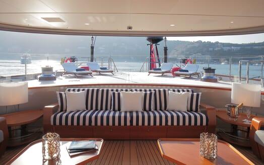 Sailing Yacht PERSEUS 3 Aft Deck