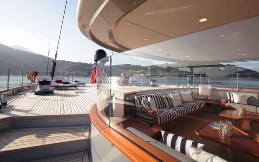 Sailing Yacht PERSEUS 3 Aft Deck Loungers