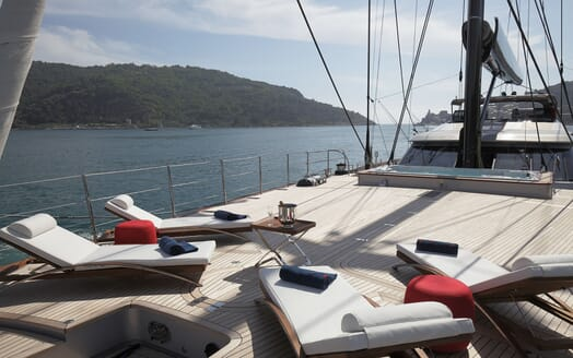 Sailing Yacht PERSEUS 3 Bow Loungers
