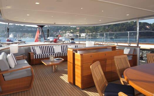 Sailing Yacht PERSEUS 3 Aft Deck Seating
