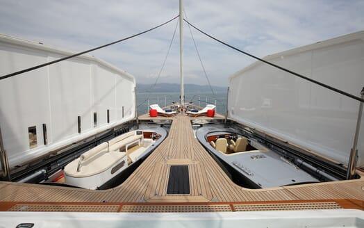 Sailing Yacht PERSEUS 3 Tender Storage