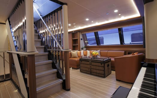 Sailing Yacht PERSEUS 3 Staircase and Piano
