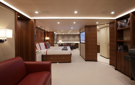 Sailing Yacht PERSEUS 3 Master Stateroom