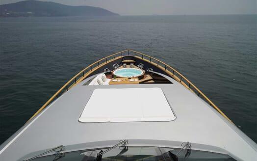 Motor Yacht Harun  foredeck