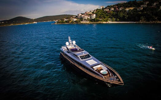Motor Yacht Harun aerial
