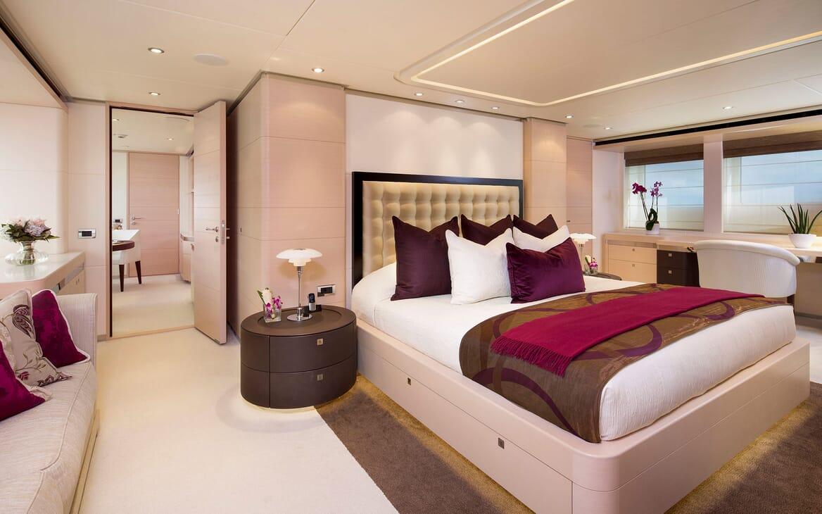 Motor Yacht LADY L Master Stateroom