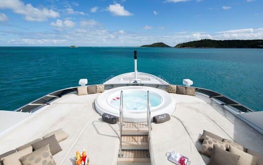 Motor Yacht LADY L Sun Deck Jacuzzi