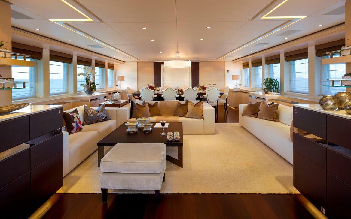 Motor Yacht LADY L Main Saloon