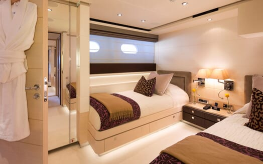 Motor Yacht LADY L Guest Twin Stateroom