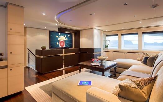 Motor Yacht LADY L TV Lounge