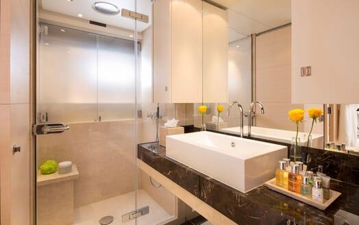 Motor Yacht LADY L Guest Bathroom
