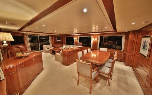 Motor Yacht Nema dining area