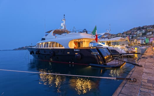 Motor Yacht Bugia moored