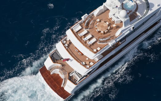 Motor Yacht Sunrise aerial