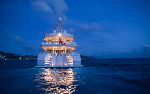 Motor Yacht Sunrise aft shot