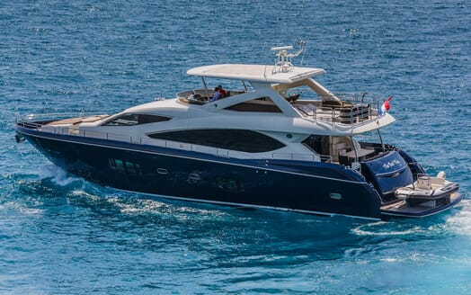 Motor Yacht The Best Way Aerial Side Profile
