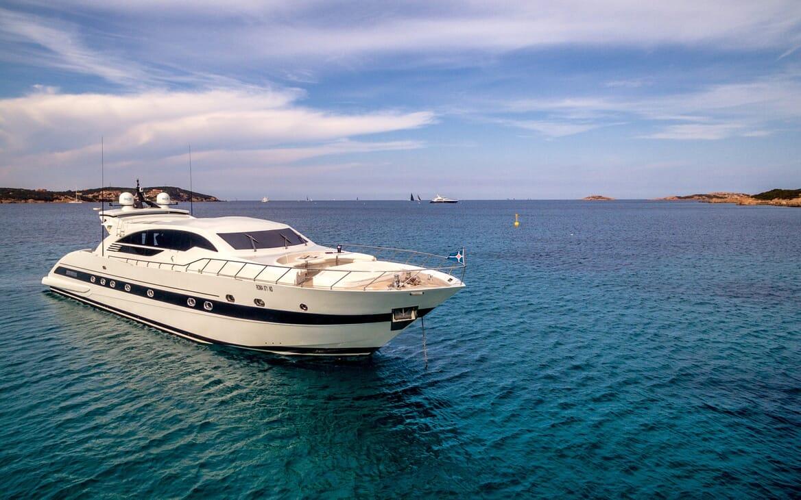 Motor Yacht JAJARO at anchor