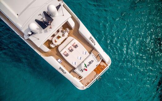 Motor Yacht JAJARO aerial