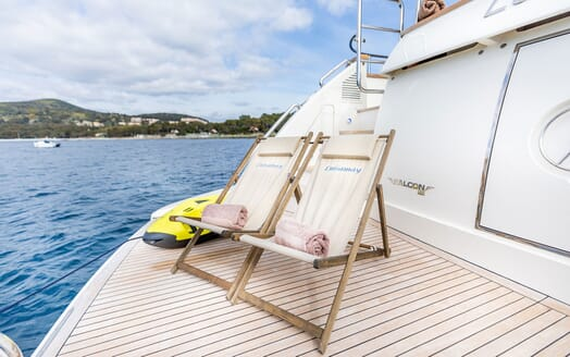 Motor Yacht LUISAMAY Aft Deck Chairs and Toys