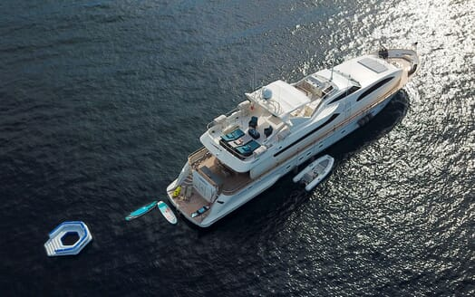 Motor Yacht LUISAMAY Areial Exterior and Toys