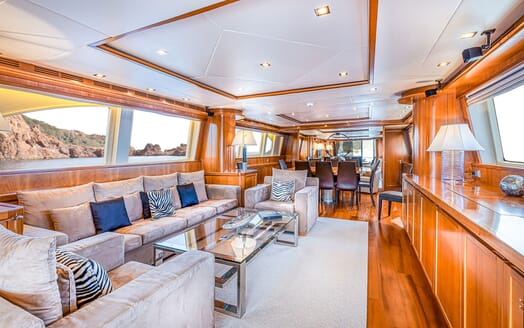 Motor Yacht LUISAMAY Main Saloon and Dining