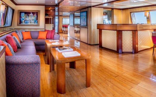 Motor Yacht CLARA ONE Main Saloon Bar Area