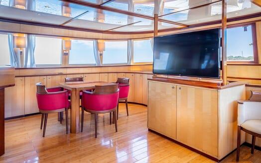 Motor Yacht CLARA ONE Main Saloon TV