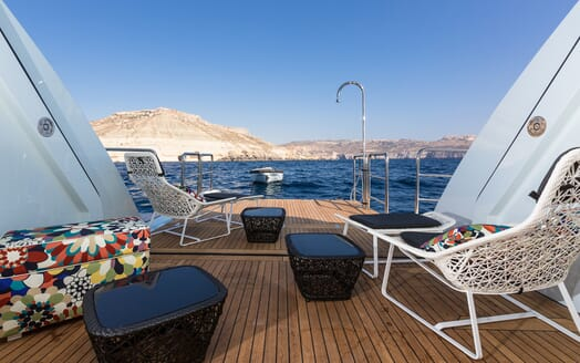 Motor Yacht Ocean Paradise aft deck