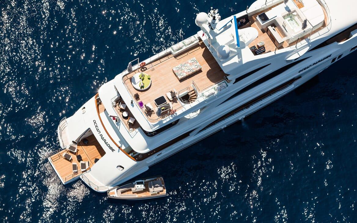 Motor Yacht Ocean Paradise aerial