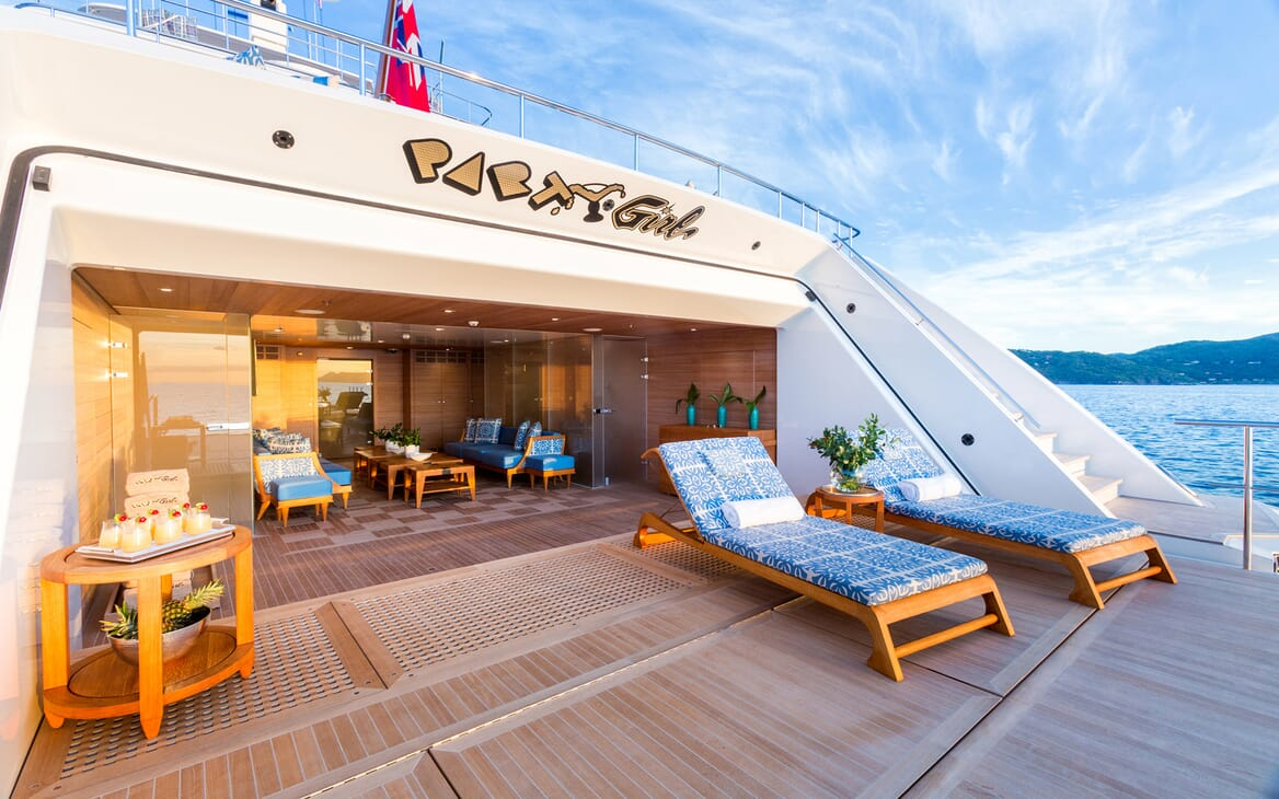 Motor Yacht Party Girl aft deck