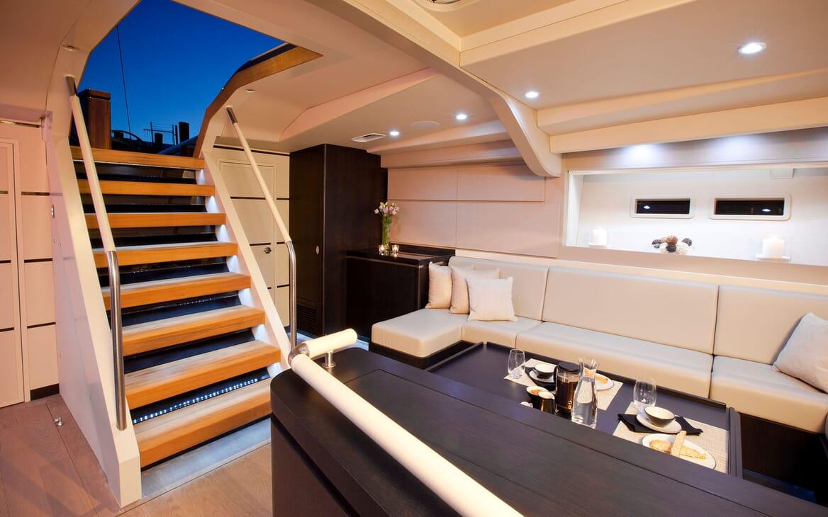 Sailing Yacht AEGIR Stairs to Main Saloon