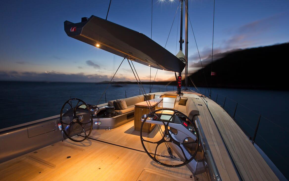 Sailing Yacht AEGIR On Deck Wheels