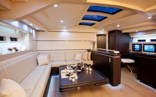 Sailing Yacht AEGIR Main Saloon Set up