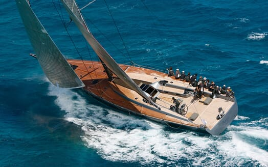 Sailing Yacht AEGIR Areial Sailing