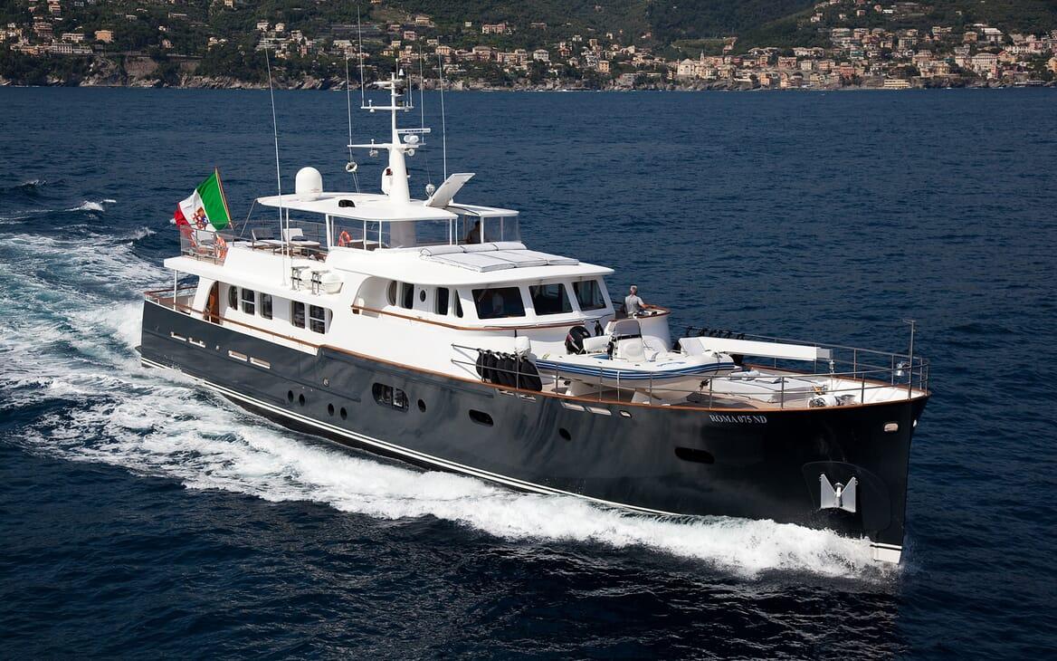 Motor Yacht Persuader Underway