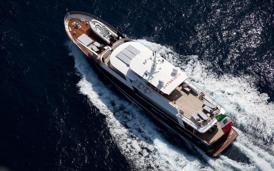 Motor Yacht Persuader Aerial Underway