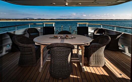 Motor Yacht Persuader Wicker Seating