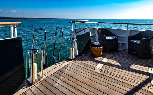 Motor Yacht Persuader Swim Ladder