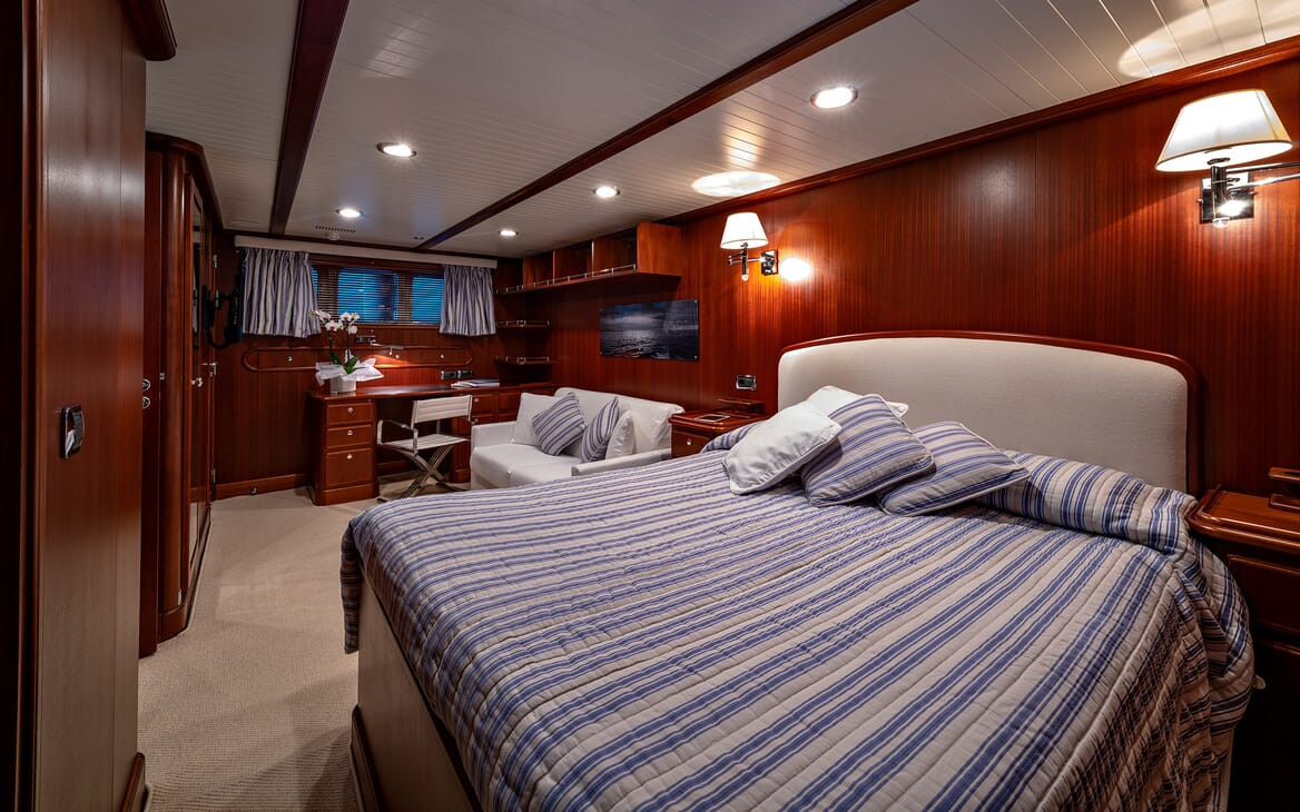Motor Yacht Persuader Master Stateroom