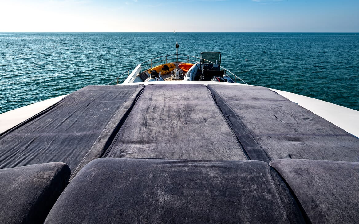 Motor Yacht Persuader Forward Sun Lounger
