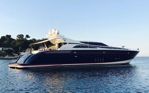 Motor Yacht Cheeky Tiger at anchor