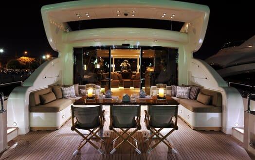 Motor Yacht Cheeky Tiger main deck