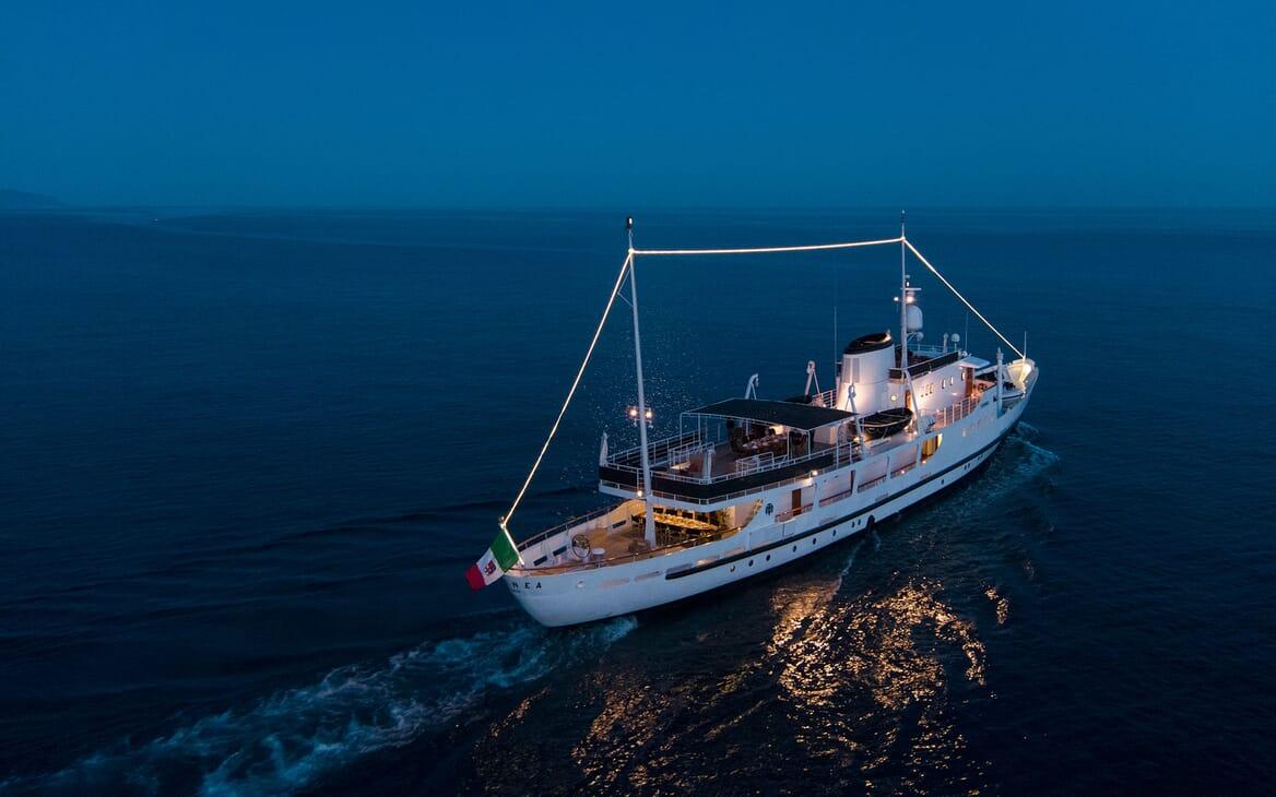 Motor Yacht DIONEA Evening Underway