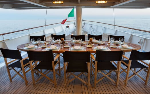 Motor Yacht DIONEA Bow Dining Table