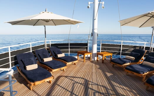 Motor Yacht DIONEA Sun Deck Loungers