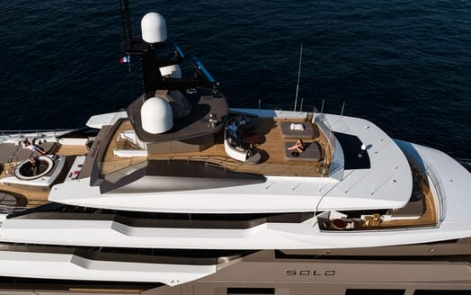 Motor Yacht SOLO Aerial Shot