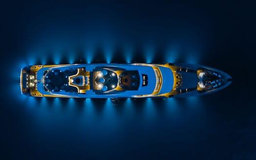 Motor Yacht SOLO Birds Eye View