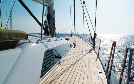 Sailing Yacht Alix On Deck