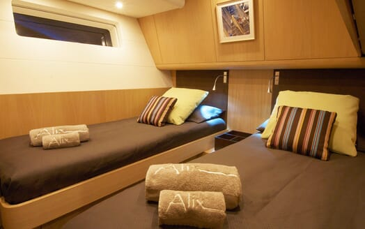 Sailing Yacht Alix Twin Guest Stateroom