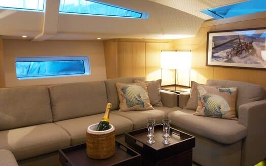 Sailing Yacht Alix Main Saloon Champagne